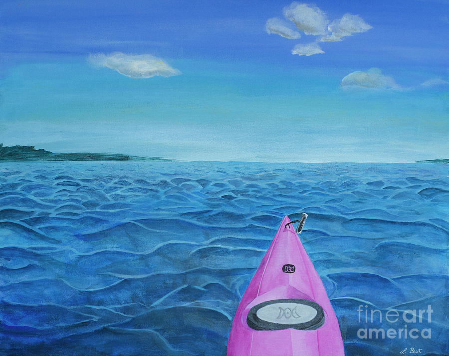 Water Painting - Rough Patch by Laurel Best