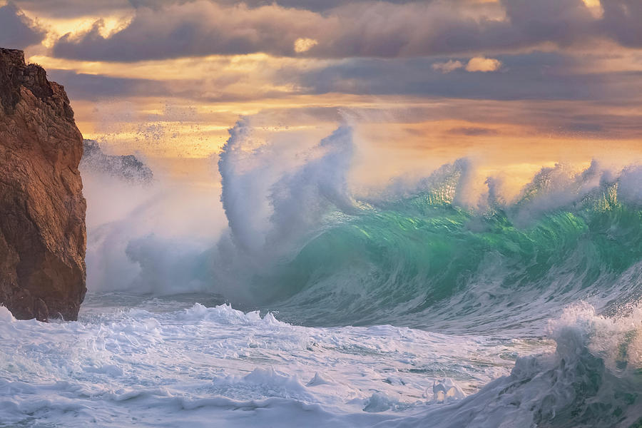 Rough Sea Photograph - Rough Sea 10 - Giant Wave During A Sea Storm by Giovanni Allievi