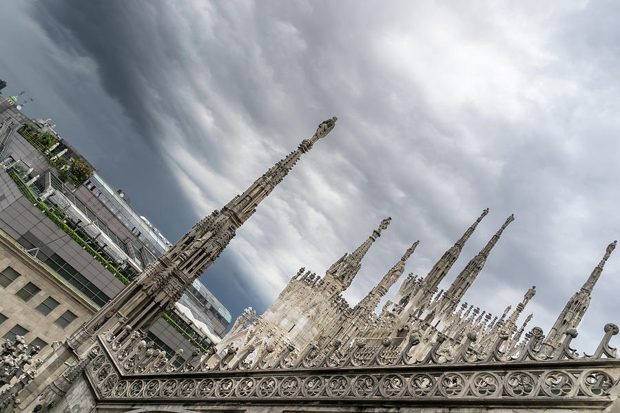 Rough Sky over Milans Cathedral Duomo di Milano by Georgia Mizuleva