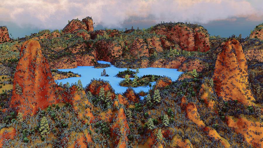 Round Brown Lands by David Luebbert