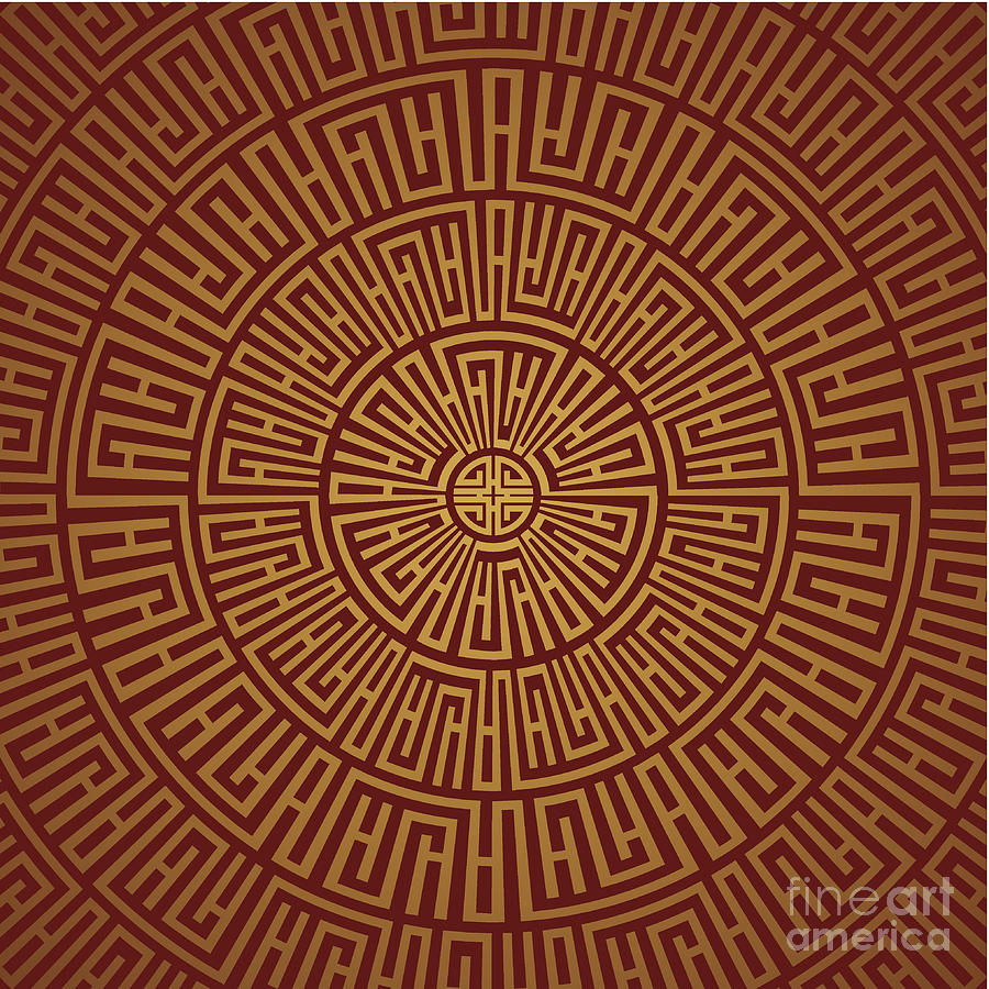 Round Pattern Digital Art by Zorazhuang