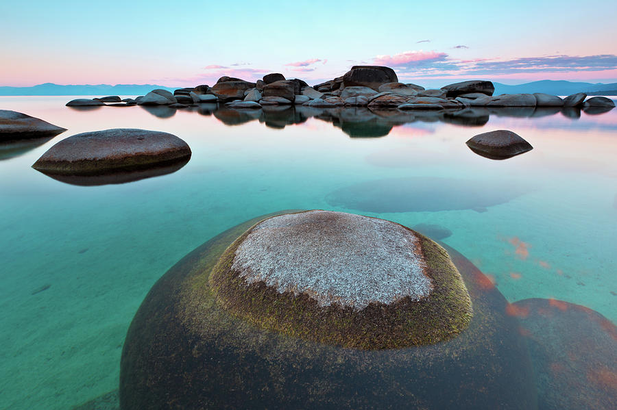 Round Rock, Sand Harbor, Lake Tahoe Photograph by Ropelato Photography; Earthscapes
