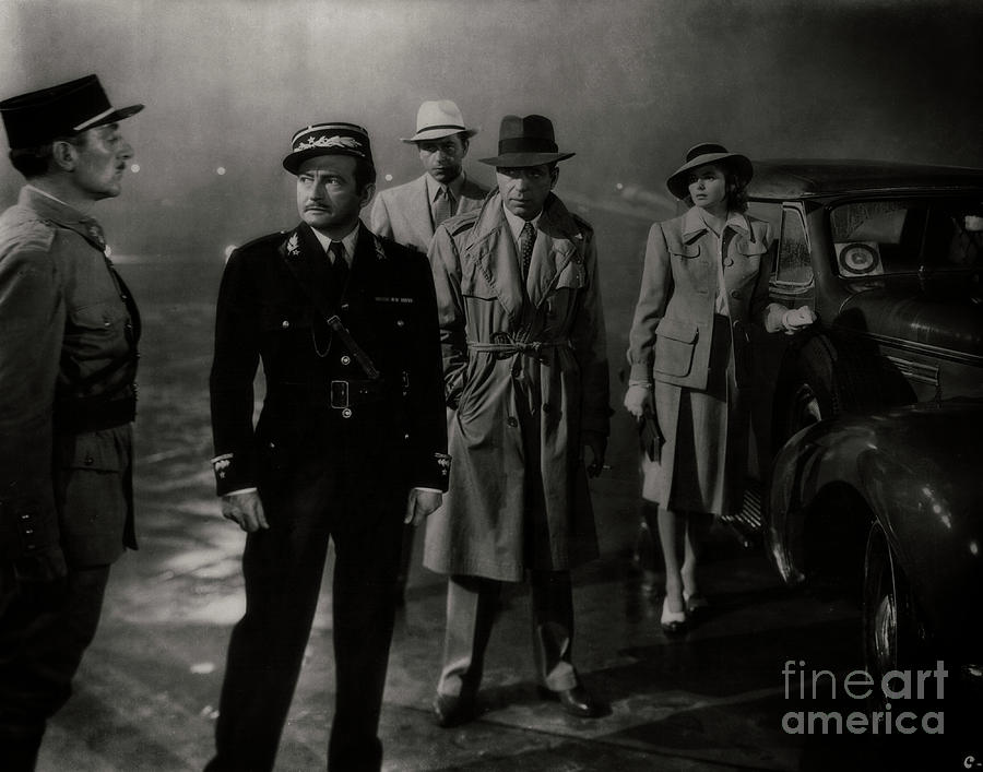 Humphrey Bogart Photograph - Round Up The Usual Suspects - Casablanca by Doc Braham