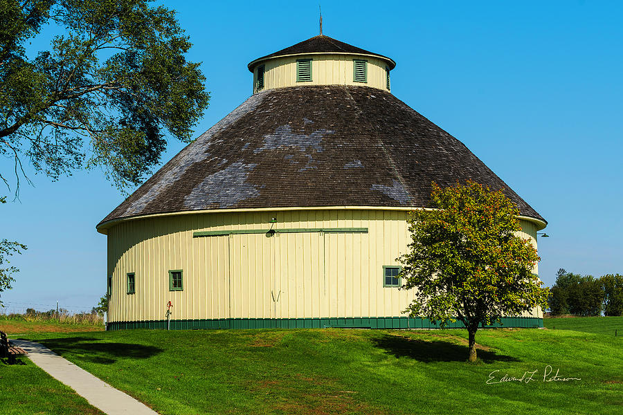 Round Yellow Barn by Edward Peterson