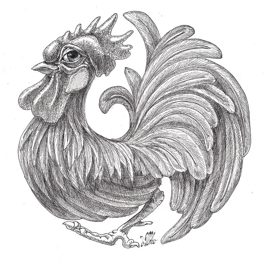 Rounded Rooster by Victor Molev