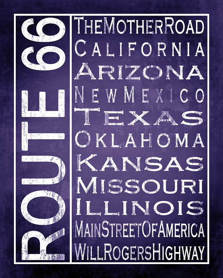 Route 66 1 - Purple by Melissa Smith