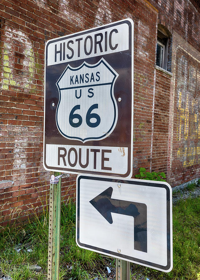 Route 66 Photograph - Route 66 - Kansas #1 by Stephen Stookey