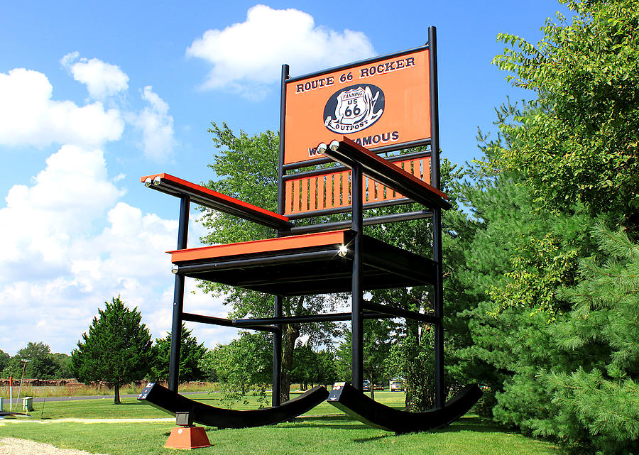Outstanding Route 66 Roadtrip Worlds Largest Rocking Chair Alphanode Cool Chair Designs And Ideas Alphanodeonline