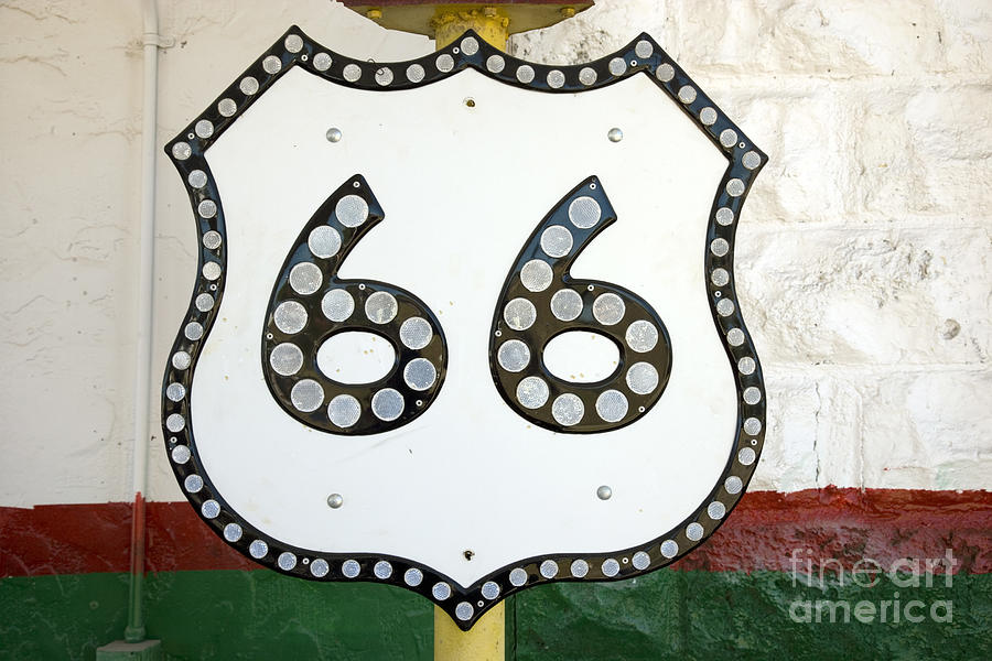 ROUTE 66 SIGN, 2006 by Carol Highsmith