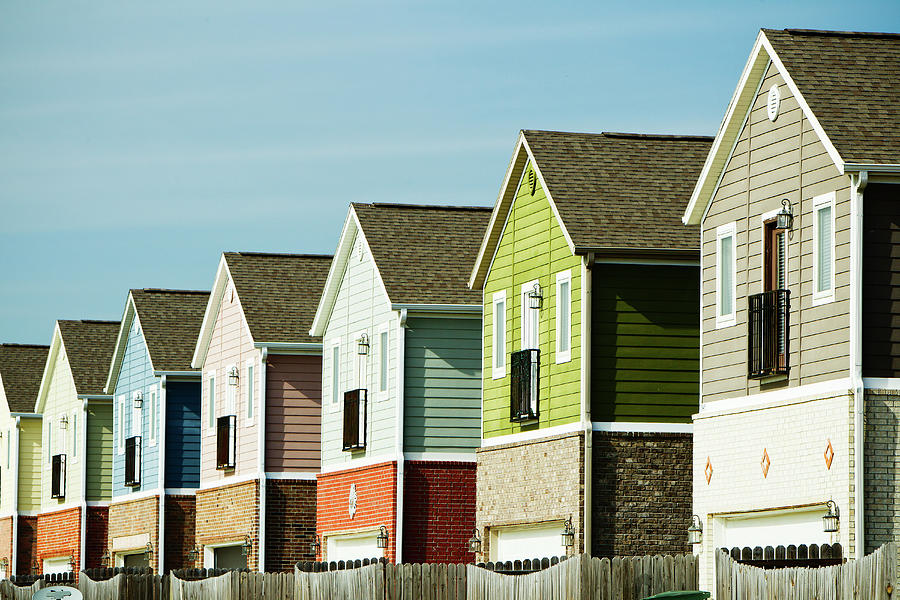 Row Of Colorful Homes Photograph by Wesley Hitt