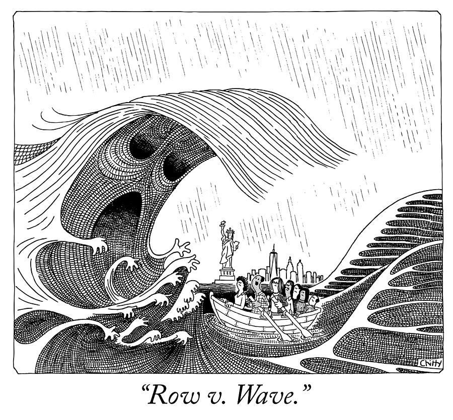 Row V Wave Drawing by Tom Chitty