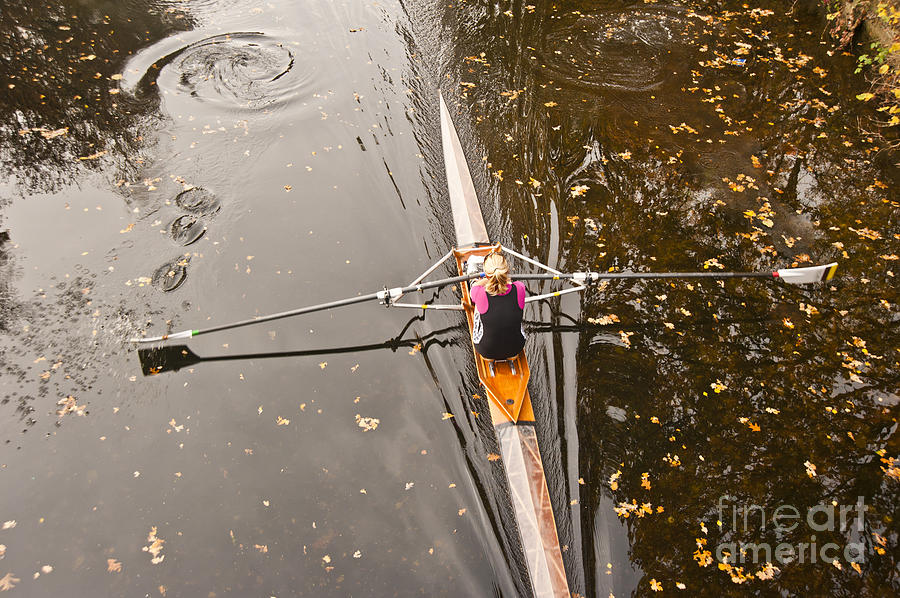 Image Photograph - Rowing In Autumn by Raevas