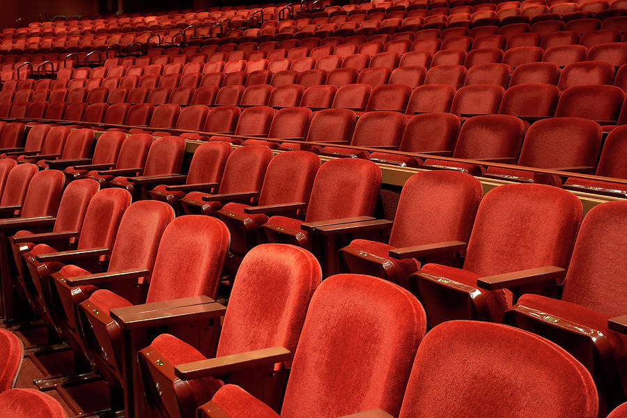 Rows Of Empty Seats In Theater Photograph by Don Farrall