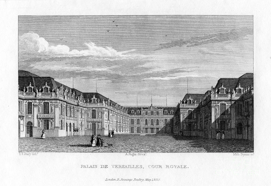 Royal Court, Palace Of Versailles Drawing by Print Collector