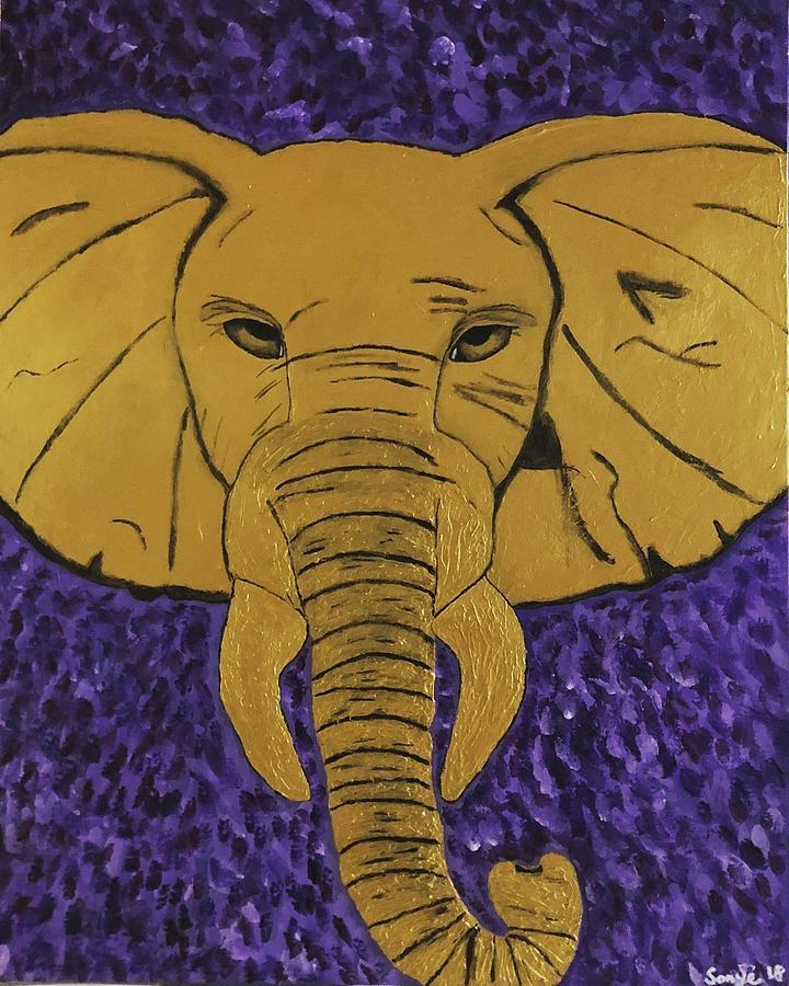 Royal Elephant Painting by Sonye Locksmith