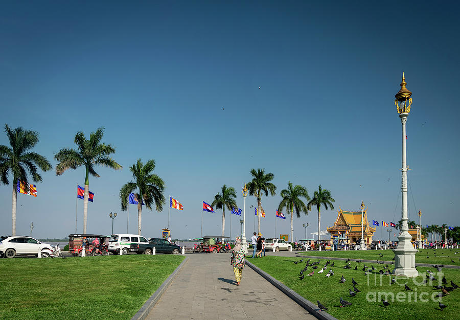 Royal Palace Park In Riverside Area Of Phnom Penh Cambodia Photograph