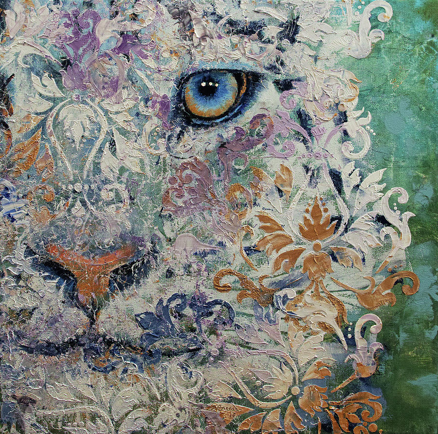 Cat Painting - Royal Snow Leopard by Michael Creese