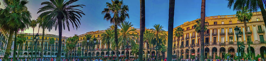 Royal square Plaza Real in Barcelona, Spain. by Art Spectrum