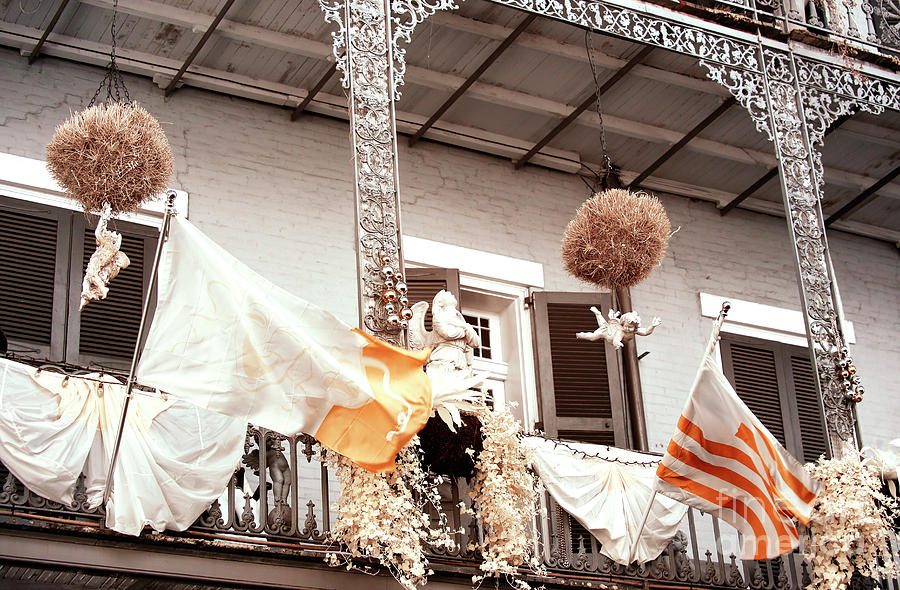 Balcony Photograph - Royal Street Balcony New Orleans Infrared by John Rizzuto