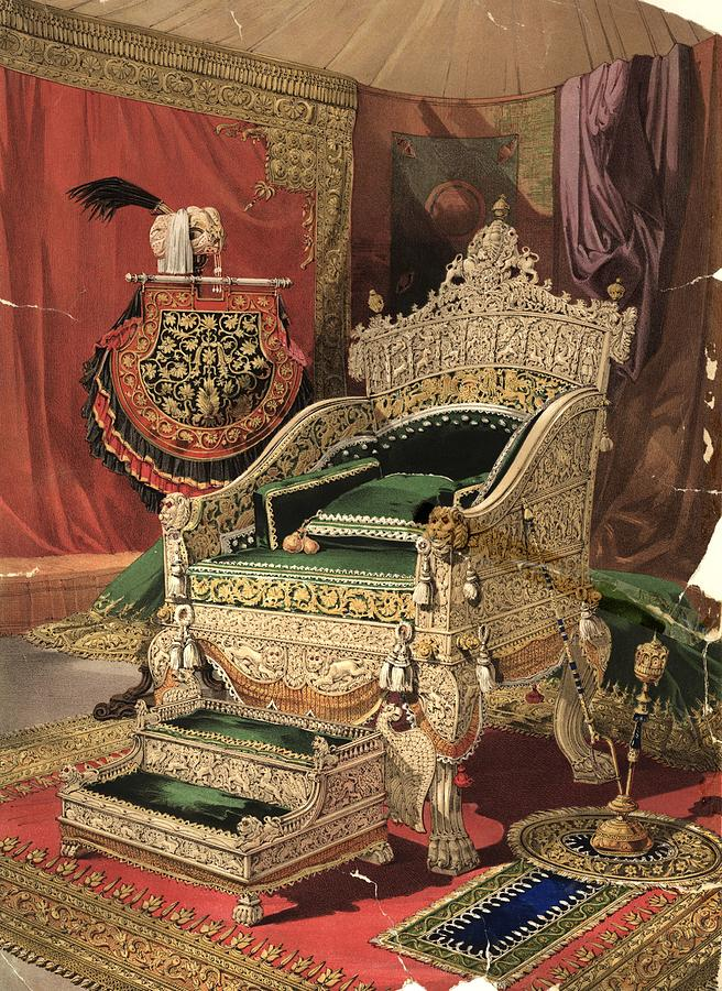 Royal Throne Photograph by Hulton Archive