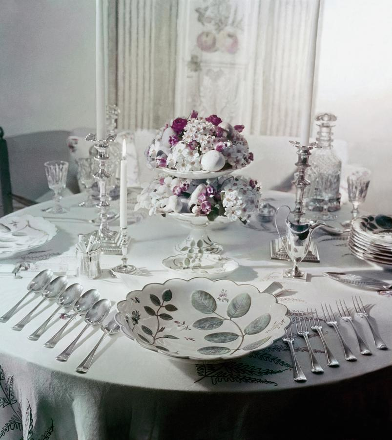 Royal Worchester Table Setting Photograph by Horst P. Horst