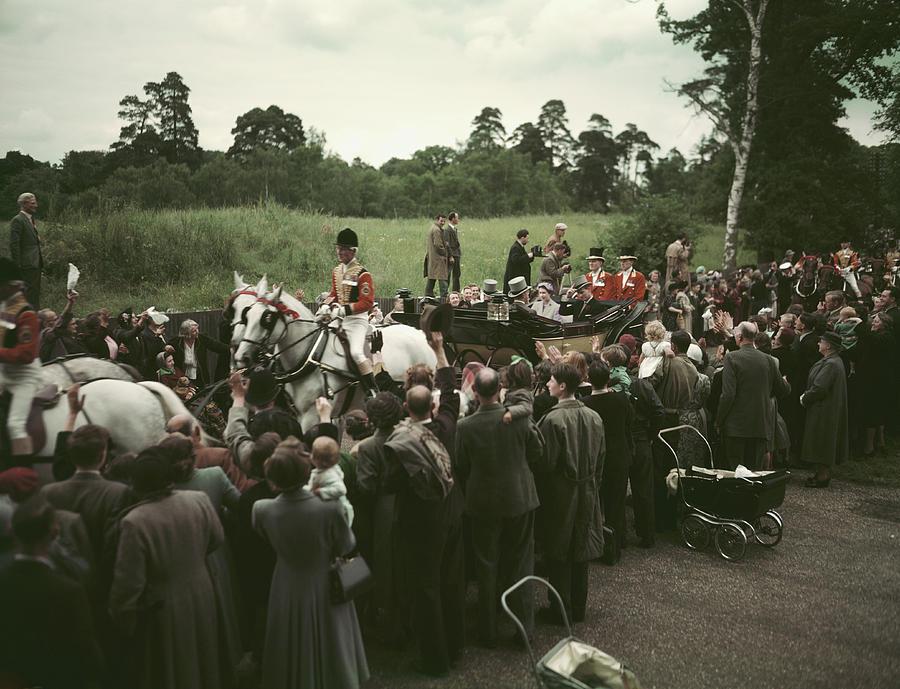 Royals At Ascot Photograph by Hulton Archive