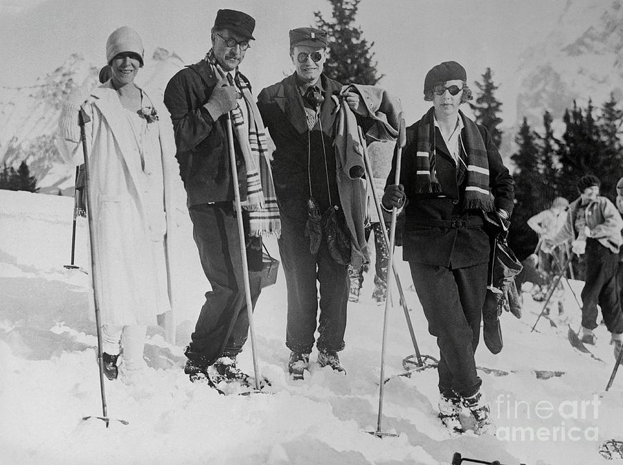 Royalty Enjoying Ski Trip Photograph by Bettmann