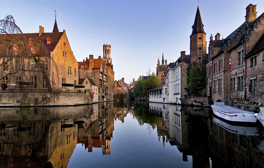Rozenhoedkaai Canal In Bruges Belgium Photograph by Nathan Bergeron Photography