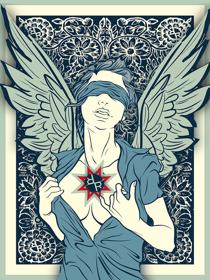 Rubino Angel Woman Wings by Tony Rubino