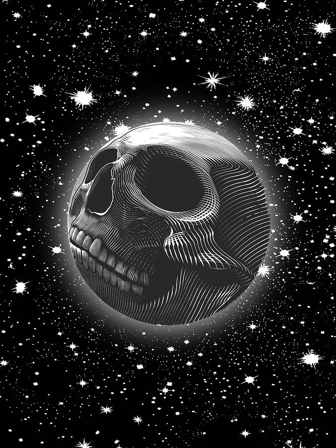 Rubino Moon Planet Skull 2 by Tony Rubino