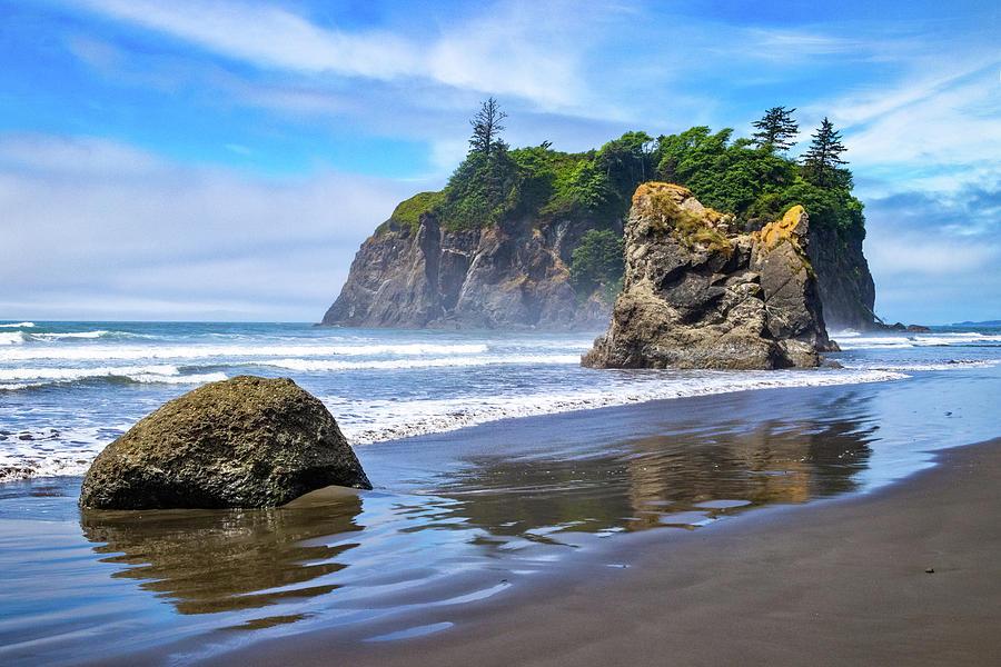 Ruby Beach Sea Stacks by Carolyn Derstine