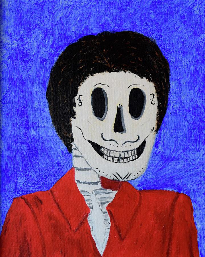Skull Painting - Rudolfo by Charla Van Vlack
