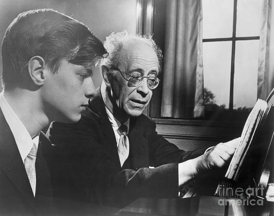 Rudolph Serkin Teaches Son Peter Piano Photograph by Bettmann