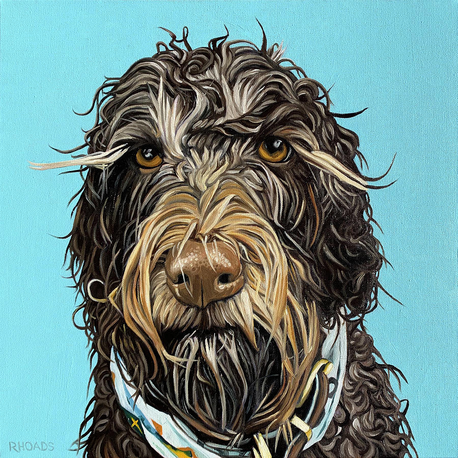 Pet Portrait Painting - Rufus by Nathan Rhoads
