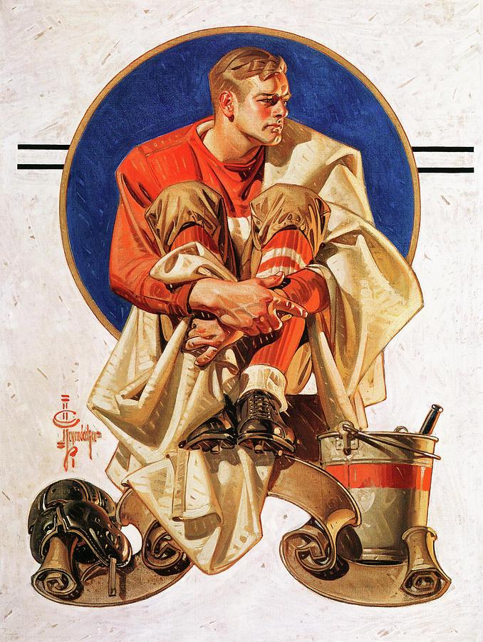 Joseph Christian Leyendecker Painting - Rugby Hero - Digital Remastered Edition by Joseph Christian Leyendecker