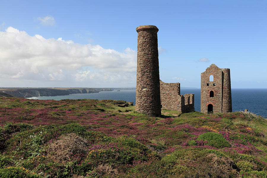 Ruin Of Wheal Coates Tin Mine, Near St Photograph by Anthony Collins