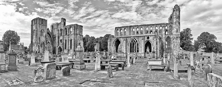 Horizontal Photograph - Ruins Of A Cathedral, Elgin Cathedral by Panoramic Images