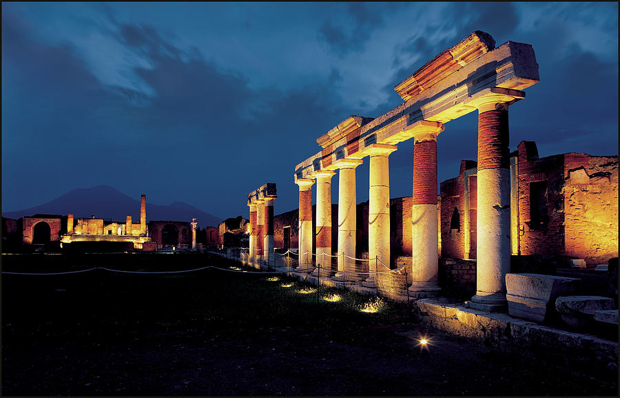 Ruins Of An Ancient Pompeii Temple Are Photograph by Eric Vandeville