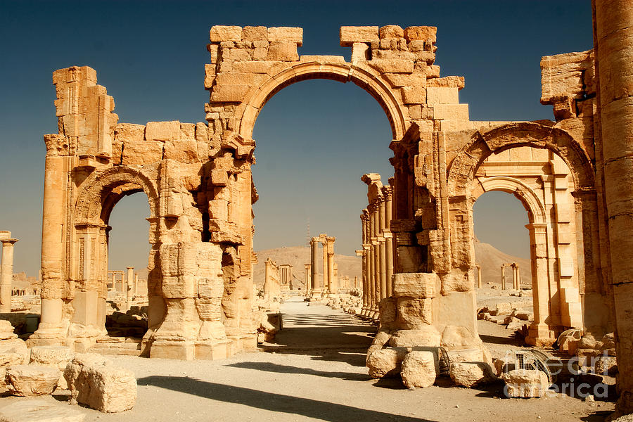 Peristyle Photograph - Ruins Of Ancient City Of Palmyra In by Zdenek Chaloupka