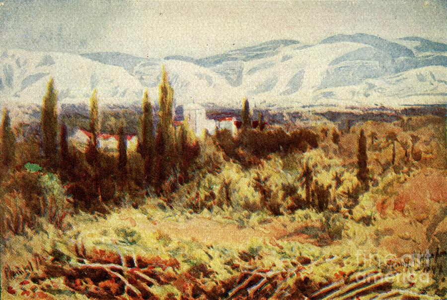 Ruins Of Jericho - Heb Xi 30 Drawing by Print Collector