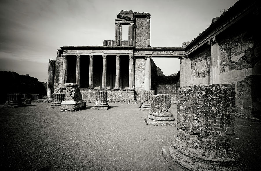 Ruins Of The Basilica, Pompeii Photograph by Flory