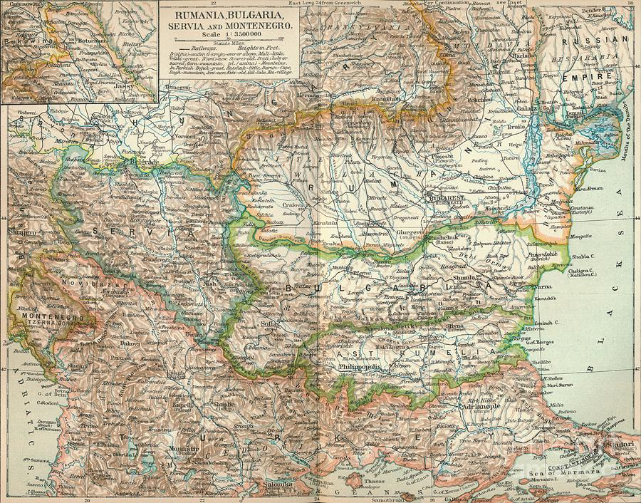 Rumania, Bulgaria, Serva Drawing by Print Collector