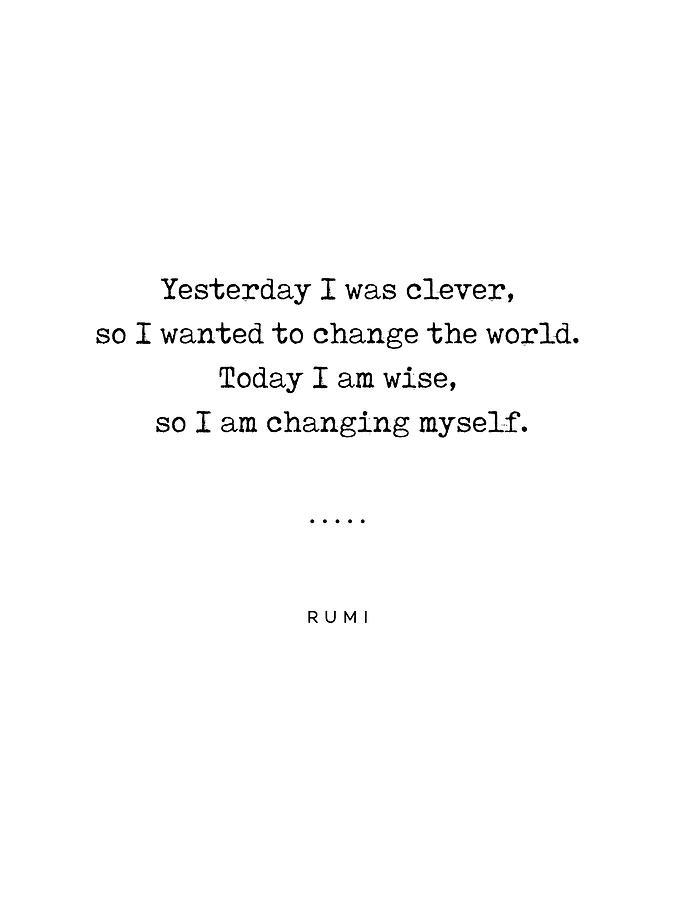 Rumi Quote Mixed Media - Rumi Quote on Life 05 - Minimal, Sophisticated, Modern, Classy Typewriter Print by Studio Grafiikka