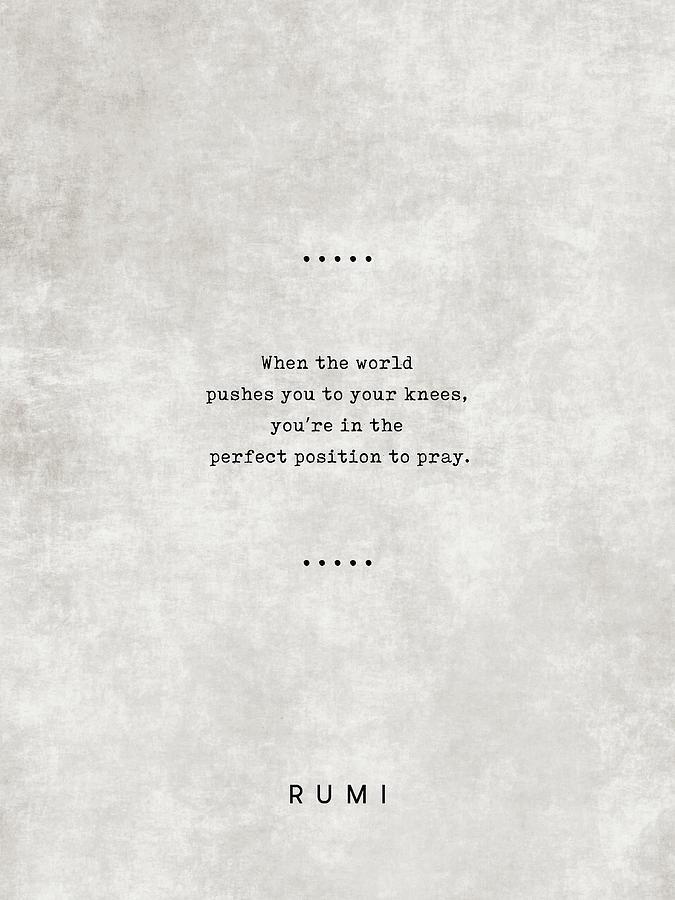 Rumi Quotes 18 - Literary Quotes - Typewriter Quotes - Rumi Poster - Sufi  Quotes - Prayer