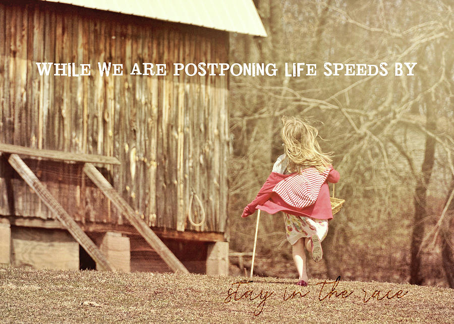 Live Photograph - Run Emily Run Quote by JAMART Photography