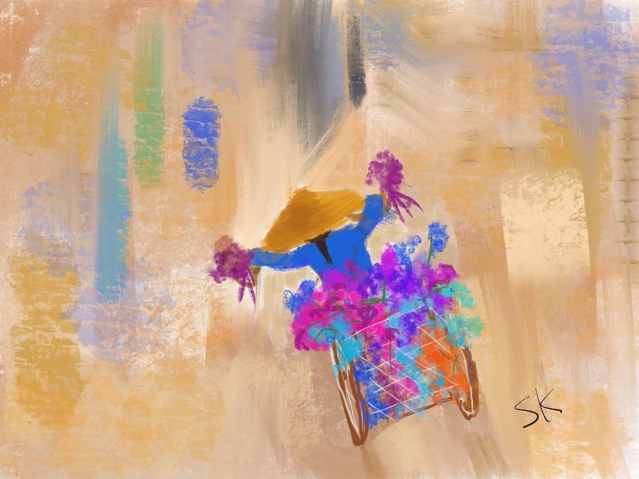 Runaway Flower Cart by Sherry Killam