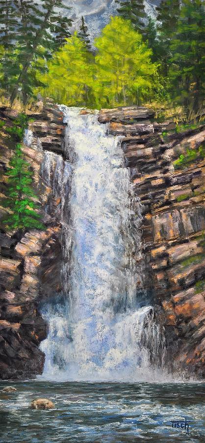 Running Eagle Falls, GNP by Lee Tisch Bialczak