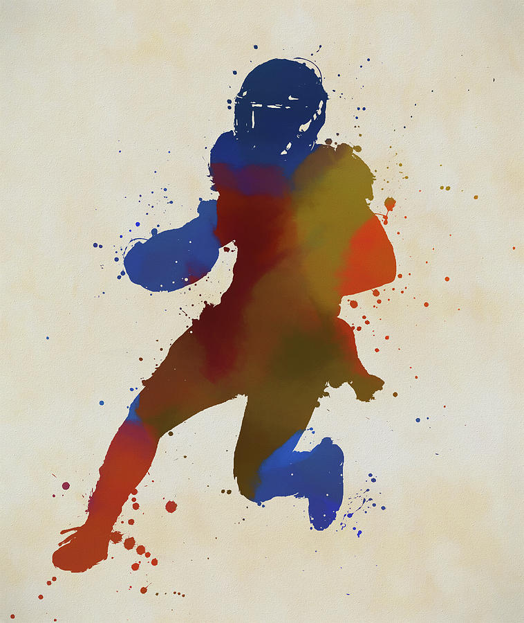 Running Football Player by Dan Sproul