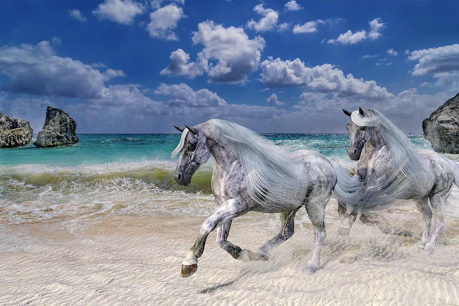 Horse Photograph - Running Free by Betsy Knapp