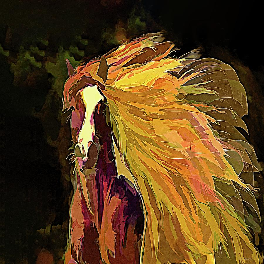 Running Horse by OLena Art - Lena Owens
